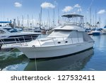 marina with luxury yachts and... | Shutterstock . vector #127532411