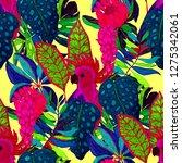 summer exotic seamless pattern. ...   Shutterstock . vector #1275342061