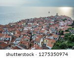 romantic fishing village on the ... | Shutterstock . vector #1275350974