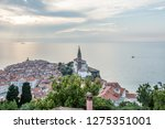 romantic fishing village on the ... | Shutterstock . vector #1275351001
