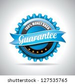 vector  guarantee labels... | Shutterstock .eps vector #127535765