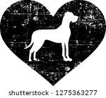 great dane silhouette in black... | Shutterstock .eps vector #1275363277