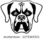 boxer head in black and white | Shutterstock .eps vector #1275365521