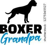 boxer grandpa silhouette in... | Shutterstock .eps vector #1275365527