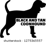 black and tan coonhound... | Shutterstock .eps vector #1275365557