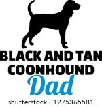 black and tan coonhound dad... | Shutterstock .eps vector #1275365581
