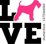 airedale terrier love word with ... | Shutterstock .eps vector #1275366064
