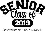 senior 2019 curved | Shutterstock .eps vector #1275366094