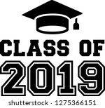 class of 2019 with mortarboard | Shutterstock .eps vector #1275366151