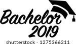 bachelor 2019 mortarboard | Shutterstock .eps vector #1275366211