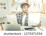 spacious light room.... | Shutterstock . vector #1275371554