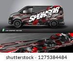 cargo van graphic vector.... | Shutterstock .eps vector #1275384484