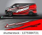 cargo van graphic vector.... | Shutterstock .eps vector #1275384721