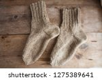 cannabis fiber socks made from... | Shutterstock . vector #1275389641