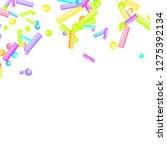 sprinkles grainy. sweet... | Shutterstock .eps vector #1275392134