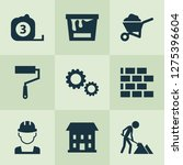 construction icons set with... | Shutterstock .eps vector #1275396604