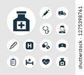 drug icons set with stings ... | Shutterstock .eps vector #1275398761