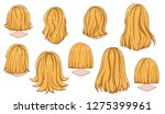 beautiful hairstyle of woman... | Shutterstock .eps vector #1275399961