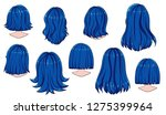 beautiful hairstyle of woman... | Shutterstock .eps vector #1275399964
