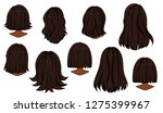beautiful hairstyle of woman... | Shutterstock .eps vector #1275399967