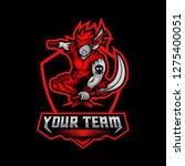 dagger man e sports team... | Shutterstock .eps vector #1275400051