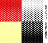 four polka dots backgrounds | Shutterstock . vector #127540589