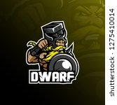 Dwarf Mascot Logo Design Vecto...