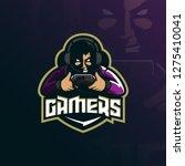 gamer mascot logo design vector ... | Shutterstock .eps vector #1275410041