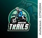 motocross mascot logo design...   Shutterstock .eps vector #1275410044