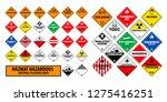 hazmat hazardous material... | Shutterstock .eps vector #1275416251