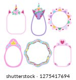 collection of fairy frames with ... | Shutterstock .eps vector #1275417694