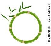 green bamboo circle frame... | Shutterstock .eps vector #1275420214