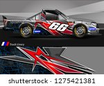 car wrap design vector  truck... | Shutterstock .eps vector #1275421381