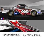 car wrap design vector  truck... | Shutterstock .eps vector #1275421411