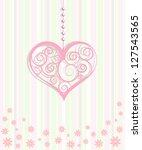 decorative hearts ornament | Shutterstock .eps vector #127543565
