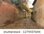cobbled alleyway in oxford  uk   Shutterstock . vector #1275437644