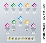 set of infographics elements.... | Shutterstock .eps vector #1275458821