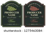 set of two vector labels for... | Shutterstock .eps vector #1275463084