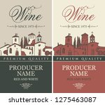 vector set of labels for red... | Shutterstock .eps vector #1275463087