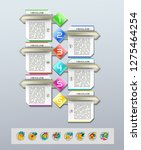 set of infographics elements.... | Shutterstock .eps vector #1275464254
