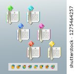 set of infographics elements.... | Shutterstock .eps vector #1275464257