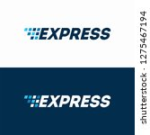 fast express delivery logo... | Shutterstock .eps vector #1275467194