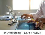 business people use technology... | Shutterstock . vector #1275476824