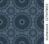 vibrant biomorphic circular... | Shutterstock .eps vector #1275478021