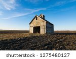 Old Weathered Wooden Barn In...