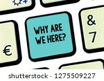 handwriting text why are we... | Shutterstock . vector #1275509227