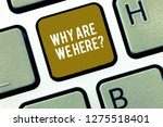 writing note showing why are we ... | Shutterstock . vector #1275518401