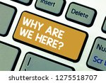 handwriting text why are we... | Shutterstock . vector #1275518707