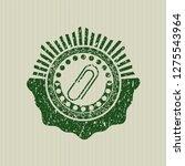 green paper clip icon inside... | Shutterstock .eps vector #1275543964