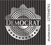 democrat silver shiny badge | Shutterstock .eps vector #1275548761